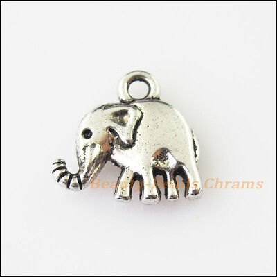 8 New Smooth Animal Elephant Tibetan Silver Tone Charms Pendants 13mm