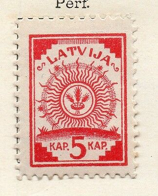 Latvia 1918 Early Issue Fine Mint Hinged 5k. 142702