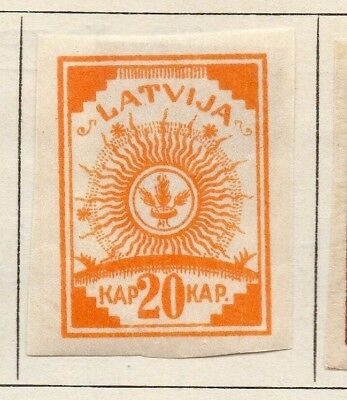 Latvia 1919 Early Issue Fine Mint Hinged 20k. Imperf 142706