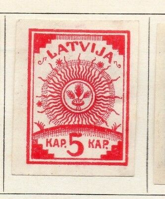 Latvia 1919 Early Issue Fine Mint Hinged 5k. Imperf 142710