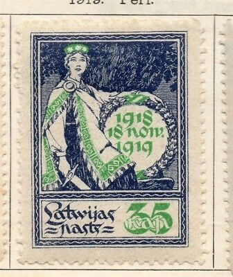 Latvia 1919 Early Issue Fine Mint Hinged 35k. 142722