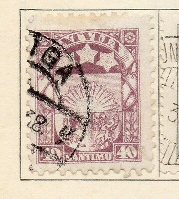 Latvia 1923-24 Early Issue Fine Used 40s. 142765