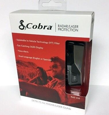 Cobra RAD450 RAD 450 Laser Radar Detector Brand New Low $