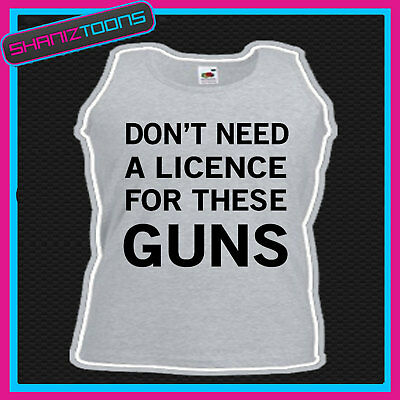 Sports Gym Funny Slogan Big Muscles Vest Top