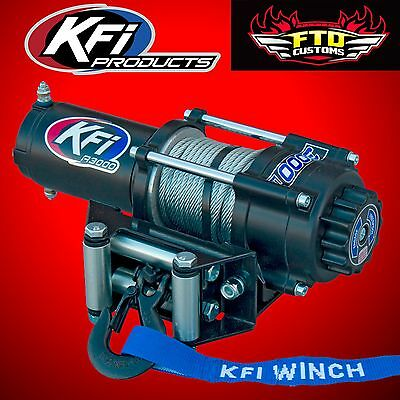 KFI A3000 3000lb Winch Kit ATV/UTV Steel Wire Rope Cable