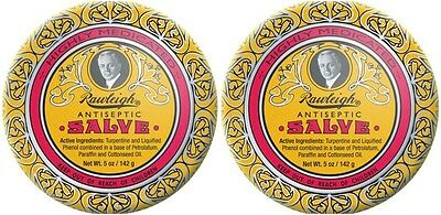 (Two Tins) Rawleigh Antiseptic Skin Balm and Salve