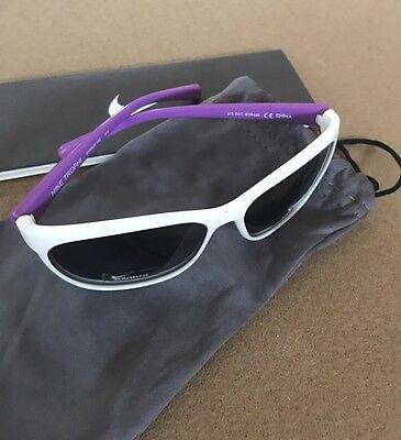 Nike Sunglasses Trophi  EV0820 152 Youth Girls Sunglasses White/Purple Authentic