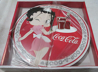 "Betty Boop Waitress Holding A Coke Bottle Cordless Wall Clock 13 1/2""across New"