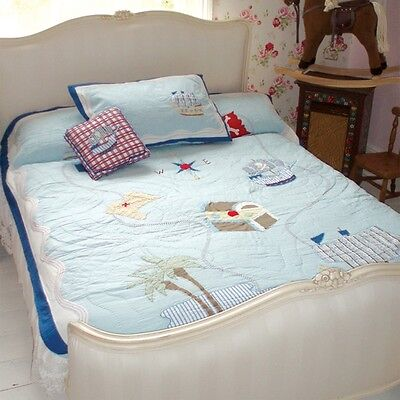 100% Cotton Pocket Stitched Bed Quilt - Single(150x220cms) -Powell Craft-Pirate