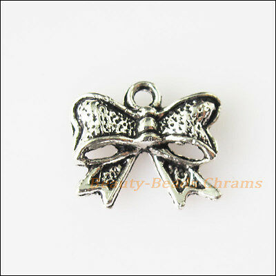 20 New Butterfly Bow Tibetan Silver Tone Charms Pendants 10.5x12mm