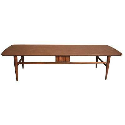 Danish Modern COFFEE TABLE wood mid century vintage surfboard retro long 1960s