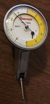 STARRETT No. 708B SERIES DIAL TEST INDICATOR .0001 GRADS 0-5-0 DIAL READING :)