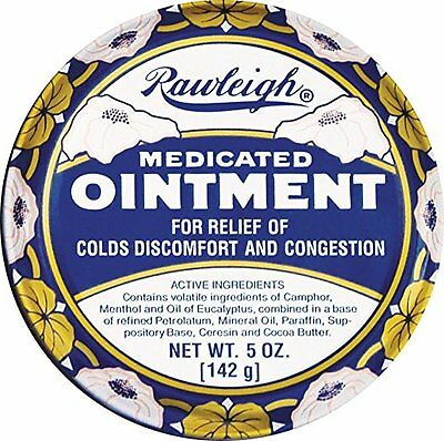 Rawleigh Medicated OIntment for relief of Colds Flu Congestion Chapped Hands