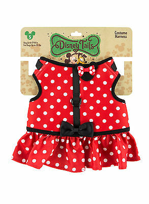 Disney Parks Minnie Mouse Costume Dog Harness Small NEW
