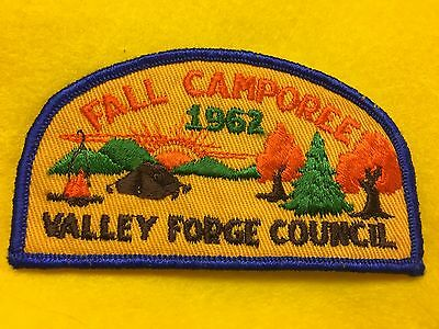 Boy Scouts - 1962 Valley Forge Council Fall Camporee patch