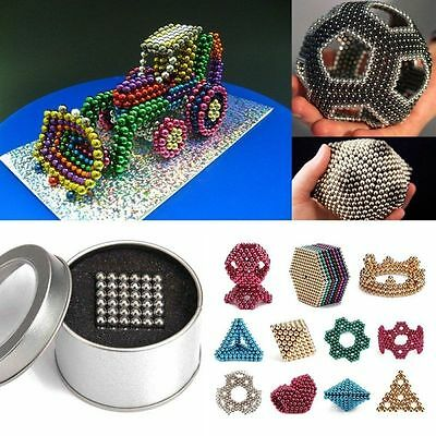 5mm Cube Magnetic Balls Spacer Beads Magic Kids Adult DIY Educational Toys