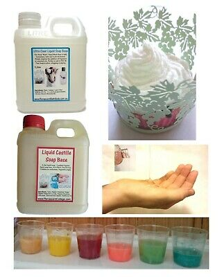 LIQUID Hand & BODY WASH Castille / Ultra Clear Unscented DIY, Whipped Soaps