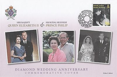 (95508) BIOT British Indian Ocean Territory FDC Queen Diamond Wedding 2007