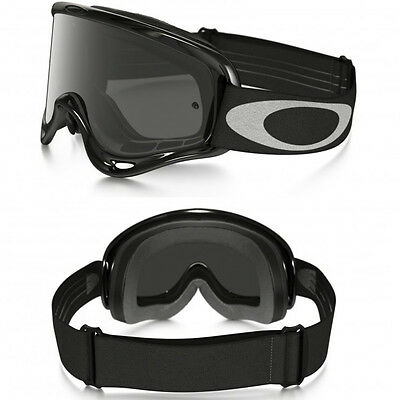 OAKLEY O-FRAME MOTOCROSS ENDURO MX BIKE GOGGLE GLOSS BLACK with SMOKE TINT LENS