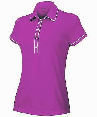 Adidas Puremotion Piped Ladies Golf Polo Shirt - Pink