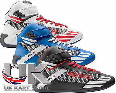 NEU Sparco Mercury KB-3 Kinder Racing Stiefel UK KART STORE