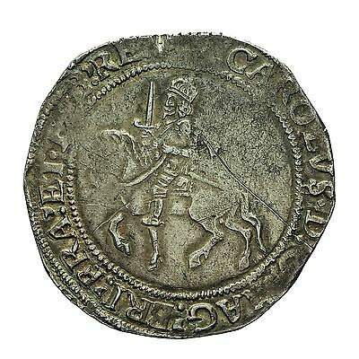 CHARLES I HAMMERED SILVER HALFCROWN  mm SUN  rev SUN over Eye S2778