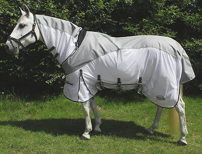 RHINEGOLD MASAI 2 in 1 horse / pony FLY RUG with WATERPROOF TOPLINE & FIXED NECK
