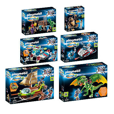 PLAYMOBIL® 6er Set 9000 01 02 03 04 06 Super4 Komplettset - Piratenschiff Drache