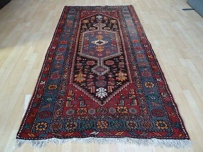 PERSIAN CARPET RUG HAND MADE WOOL antique traditional oriental 8ft x 4ft 2 c1900