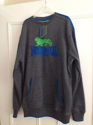 LONSDALE Boys Sweatshirt Top Boxing/MMA • New With Tags • Age 13 Years XLB •