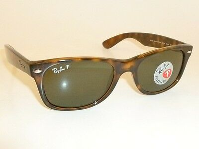 RAY BAN  New  WAYFARER  Brown Frame  RB 2132 902/58  Glass POLARIZED  55mm Large