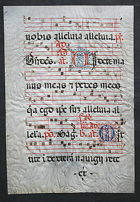 Grossformatiges Antiphonar,lithurgische Handschrift,pergament,initialien,1490