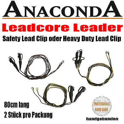 Anaconda Leadcore Leader Safety Lead Clip / Heavy Duty Lead Clip Karpfen Vorfach