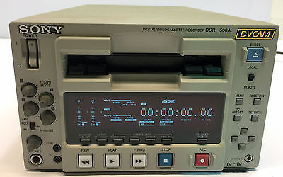Sony Dsr-1500A Dvcam Digital Videocasette Recorder Editing Deck