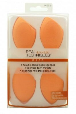 Real Techniques Gift Set 4 X Miracle Complexion Sponges - Women's For Her. New