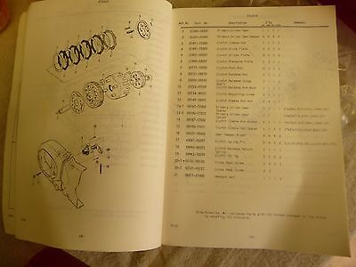 Motorcycle book SUZUKI parts manual A100