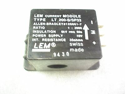 LEM LT 200-S/SP33 allen-bradley current module 1:2000 9vdc - 60day warranty