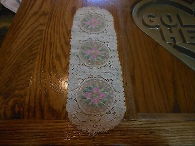 """Lace, colored embroidery inserts 13x4"""" L054"""