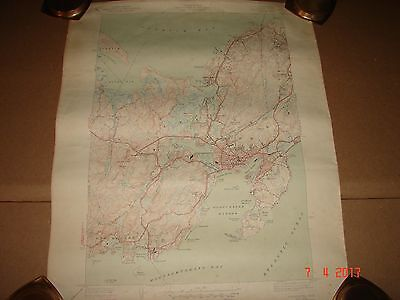 1949 Gloucester Mass. Topographic Map, Part of Manchester, Rockport