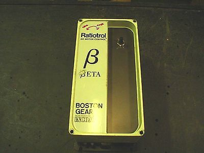 Qty 1 Boston Gear RB1B drive in 115vac 15amps arm.90vdc 10.5 amp 1hp  60 day war