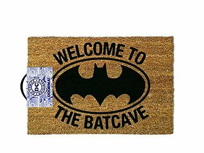 Welcome to the Batcave Door Mat with Rubber Backing - Best Gift for Batman Fans