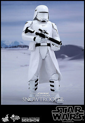 Hot Toys Star Wars Force Awakens First Order Snowtrooper Sixth Scale Figure New