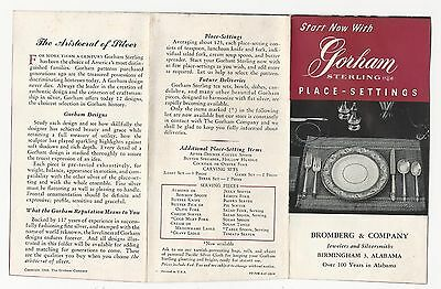 1946  Brochure  Of Gorham Sterling Silver Flatware With Price List