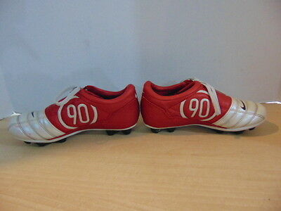 Soccer Shoes Cleats Child Size 1.5 Nike Total 90 III Red Silver