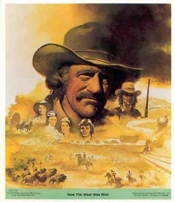 HOW THE WEST WAS WON James Arness 1978 Poster Sticker
