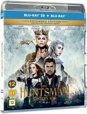 The Huntsman Winter's War 3D + 2D Extended Edition Blu-Ray BRAND NEW Free Ship