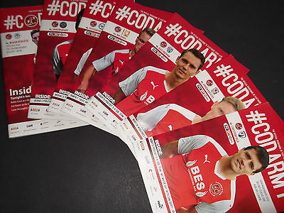 2016/17 Fleetwood Home Programmes Choose From