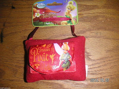 DISNEY FAIRIES TINKERBELL child RED MINI PILLOW baby TOOTH FAIRY money holder
