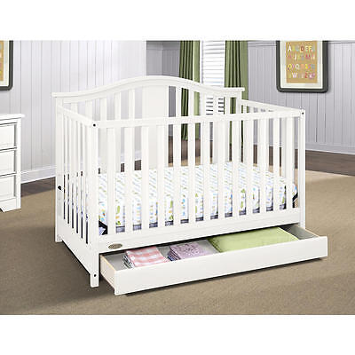 Graco Solano 4-in-1 Convertible Crib with Drawer - White