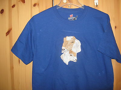 New  Nubian Goat Doe And Kid Embroidered T-Shirt Add Name For Free
